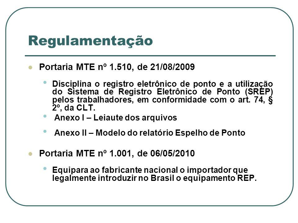 Regulamentação Portaria MTE nº 1.510, de 21/08/2009
