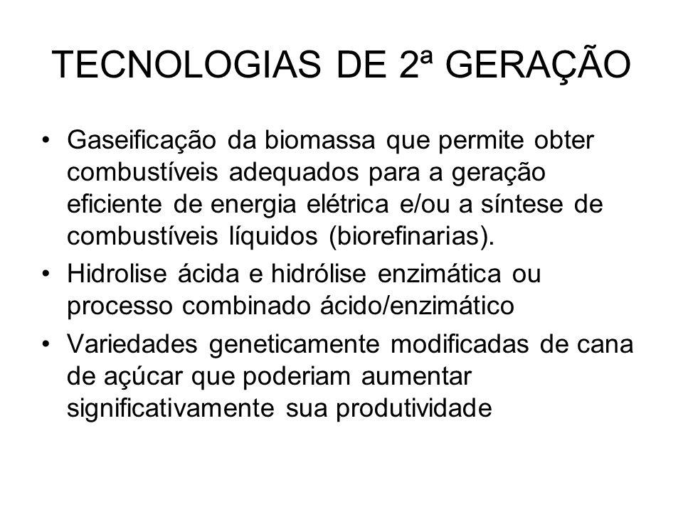 TECNOLOGIAS DE 2ª GERAÇÃO
