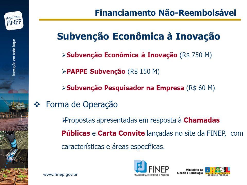 Subvenção Econômica à Inovação
