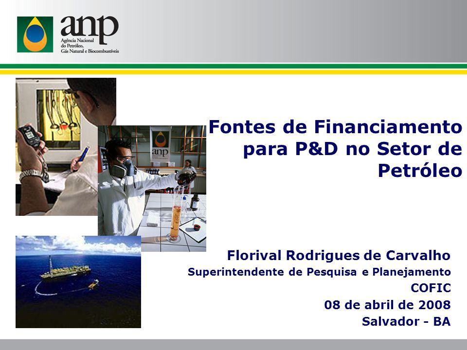 Fontes de Financiamento para P&D no Setor de Petróleo