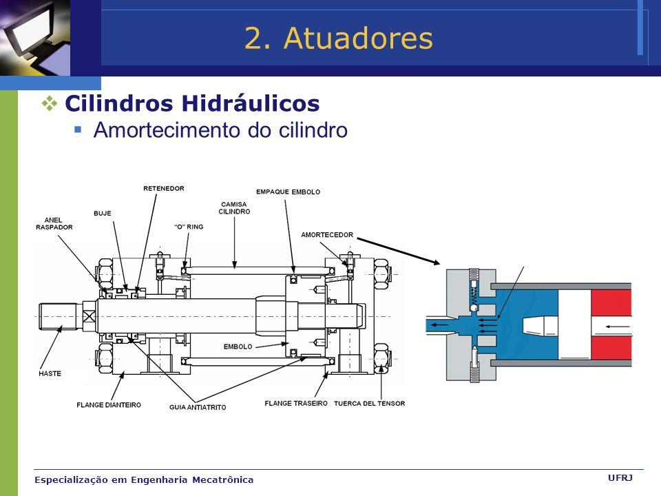 2. Atuadores Cilindros Hidráulicos Amortecimento do cilindro