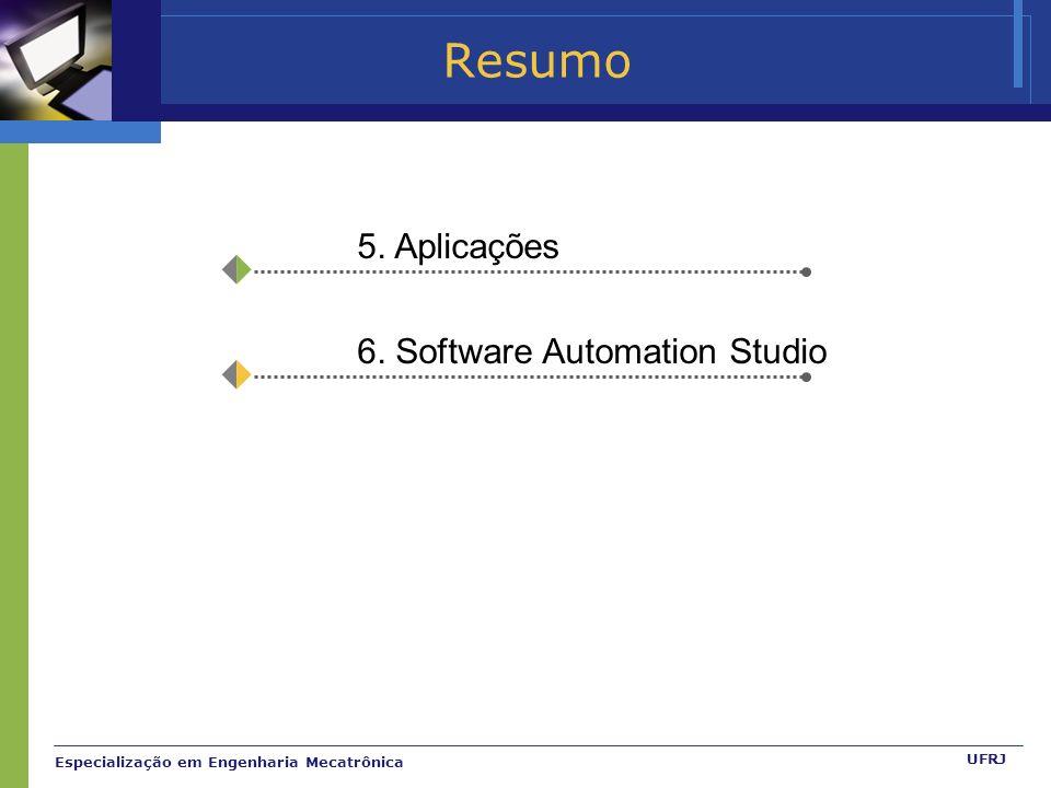 Resumo 5. Aplicações 6. Software Automation Studio