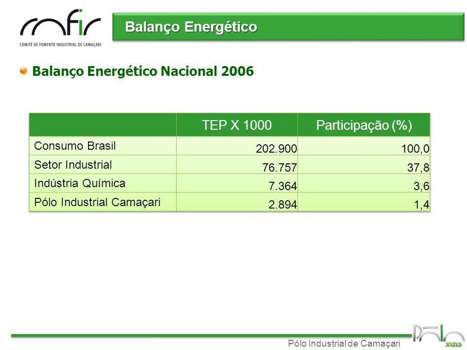 Balanço Energético Balanço Energético Nacional 2006 TEP X 1000