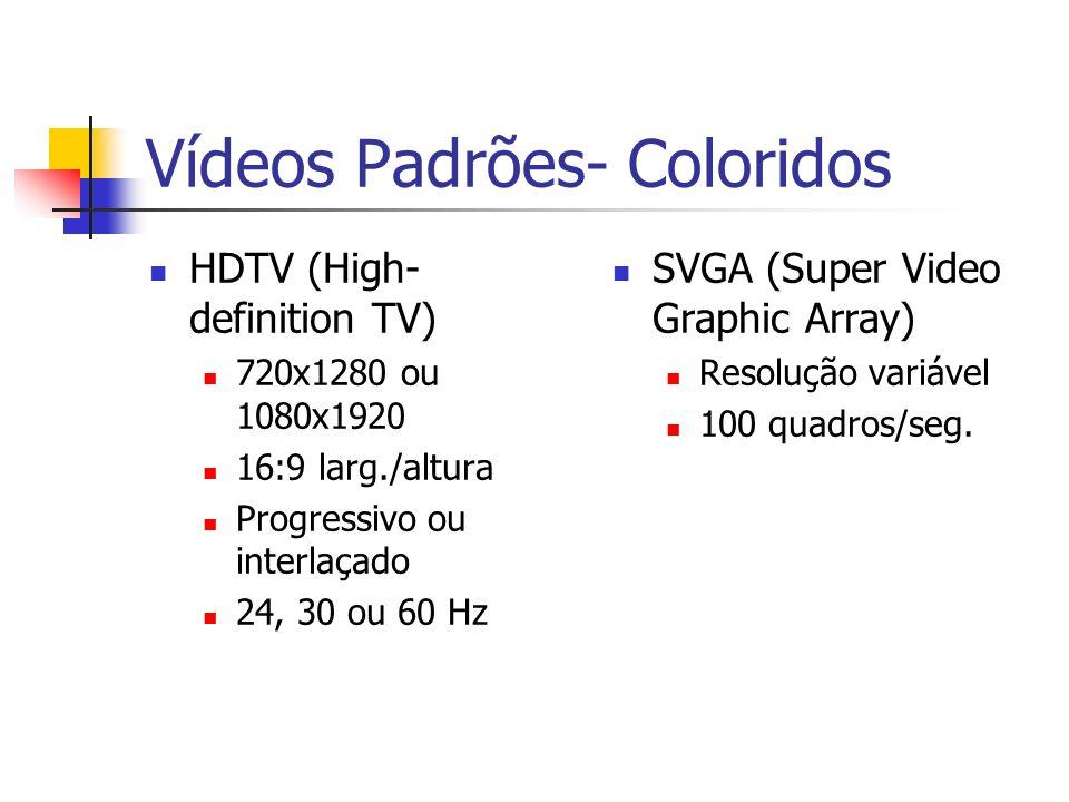 Vídeos Padrões- Coloridos