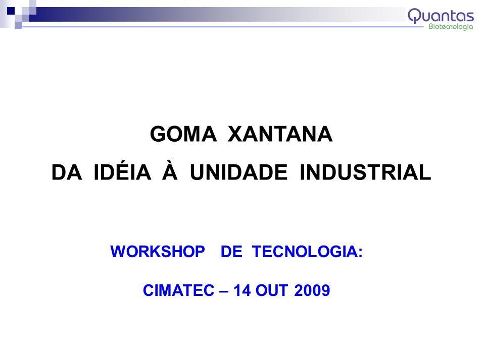 DA IDÉIA À UNIDADE INDUSTRIAL WORKSHOP DE TECNOLOGIA: