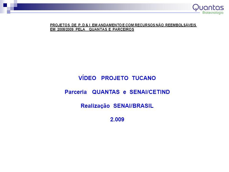 Parceria QUANTAS e SENAI/CETIND Realização SENAI/BRASIL