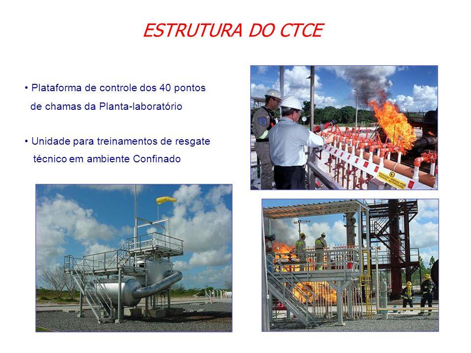 ESTRUTURA DO CTCE Plataforma de controle dos 40 pontos