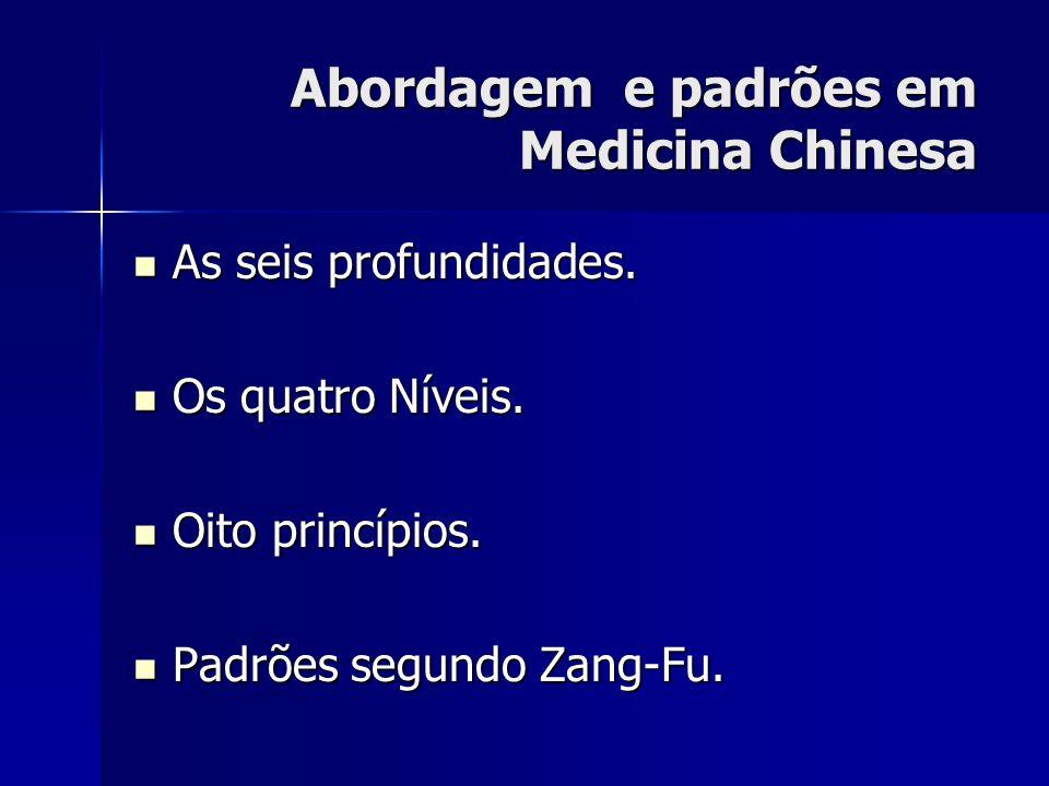 Abordagem e padrões em Medicina Chinesa