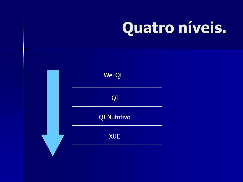 Quatro níveis. Wei QI QI QI Nutritivo XUE