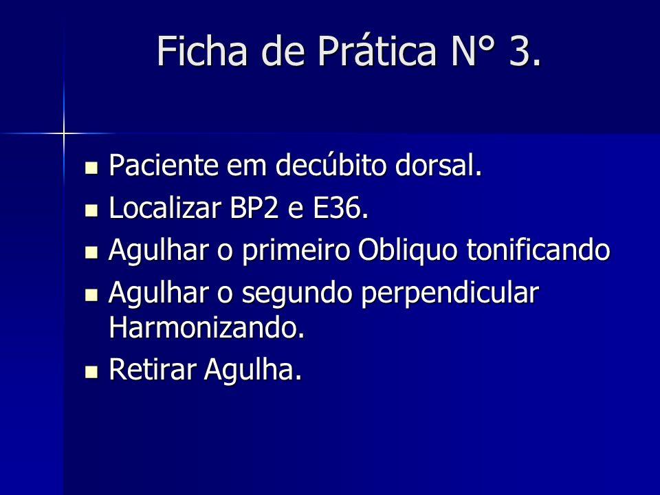 Ficha de Prática N° 3. Paciente em decúbito dorsal.