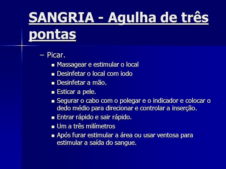 SANGRIA - Agulha de três pontas