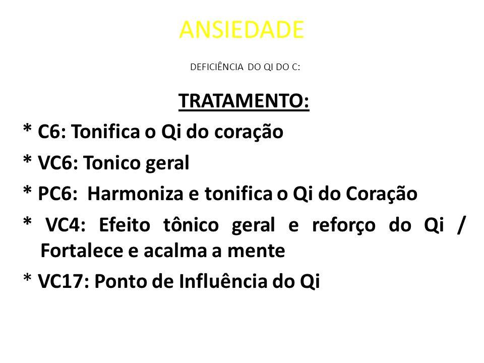 ANSIEDADE DEFICIÊNCIA DO QI DO C: