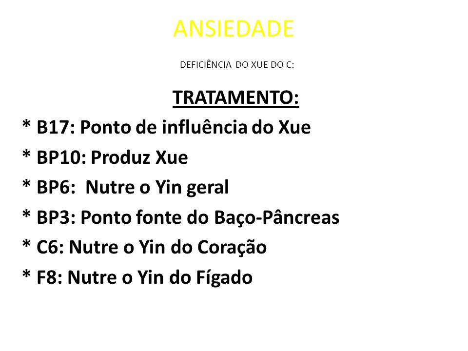 ANSIEDADE DEFICIÊNCIA DO XUE DO C: