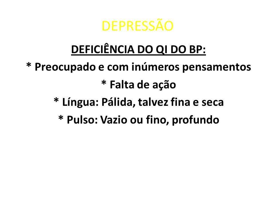 DEPRESSÃO DEFICIÊNCIA DO QI DO BP: