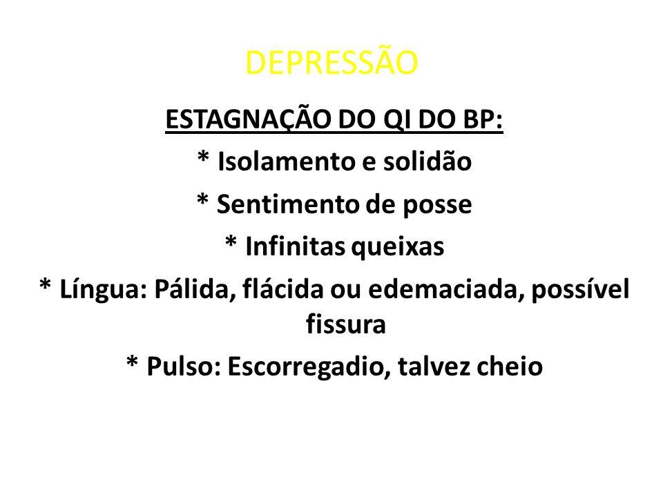 DEPRESSÃO ESTAGNAÇÃO DO QI DO BP: * Isolamento e solidão