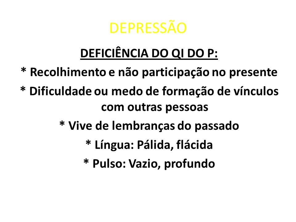 DEPRESSÃO DEFICIÊNCIA DO QI DO P: