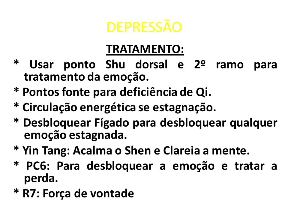DEPRESSÃO TRATAMENTO: