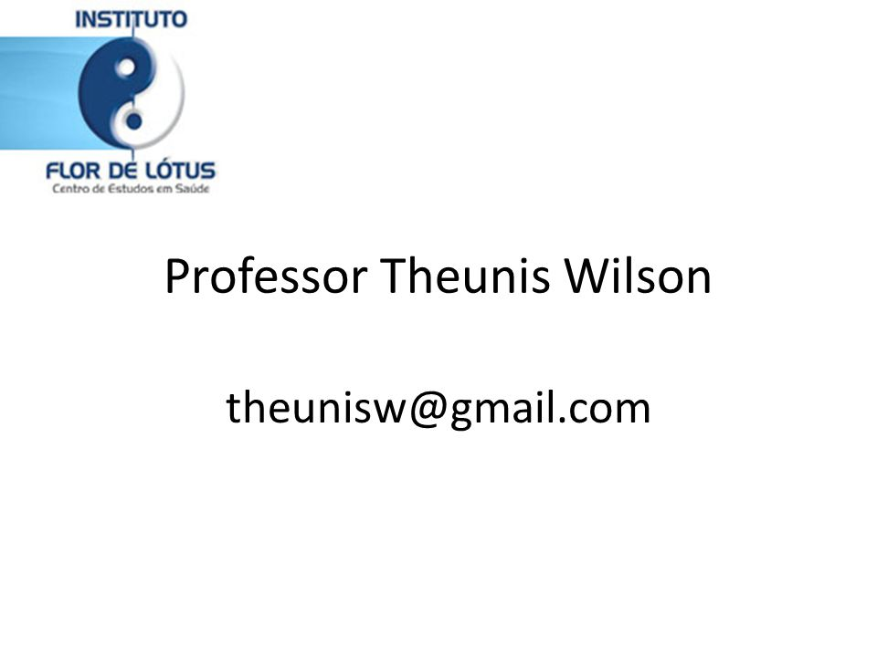 Professor Theunis Wilson