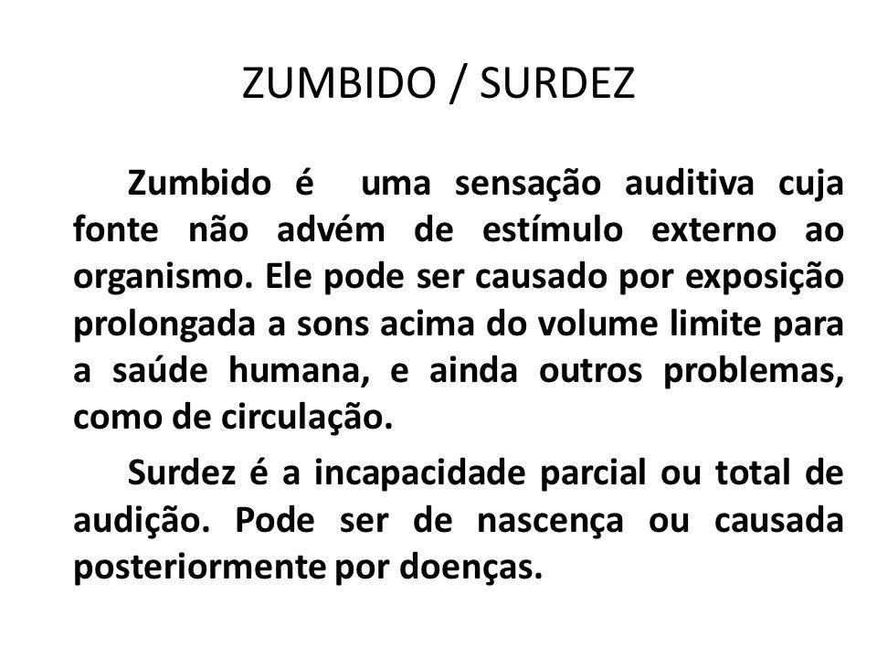 ZUMBIDO / SURDEZ