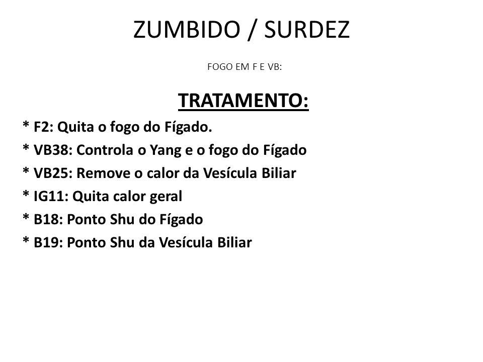 ZUMBIDO / SURDEZ FOGO EM F E VB: