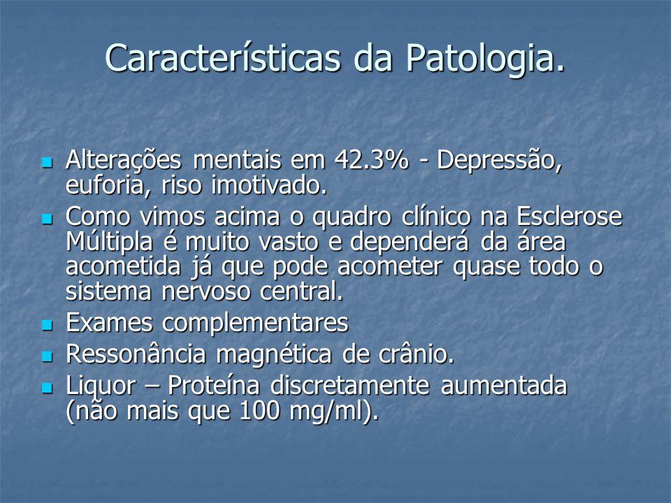 Características da Patologia.