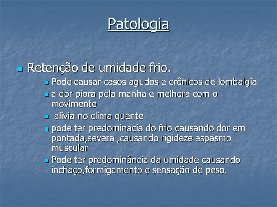 Patologia Retenção de umidade frio.