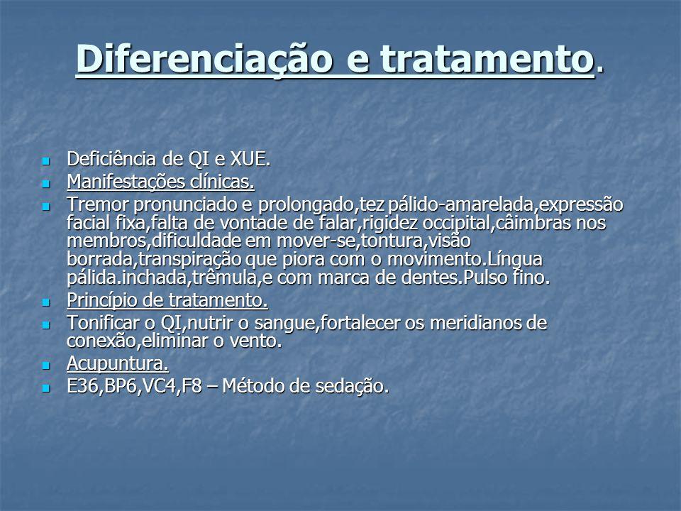 Diferenciação e tratamento.