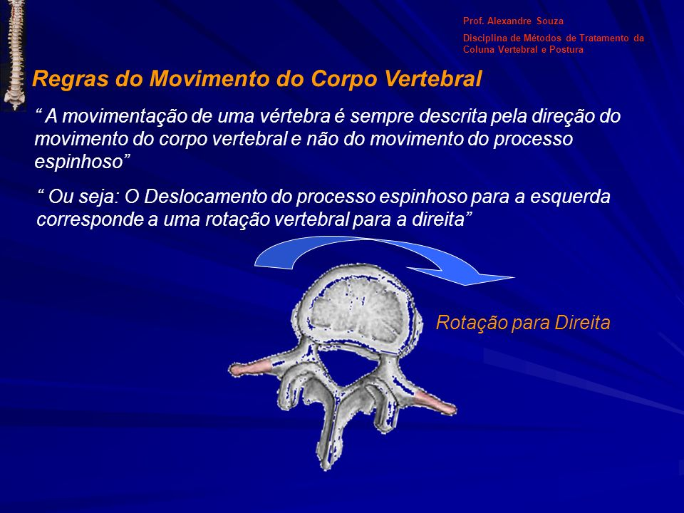 Regras do Movimento do Corpo Vertebral