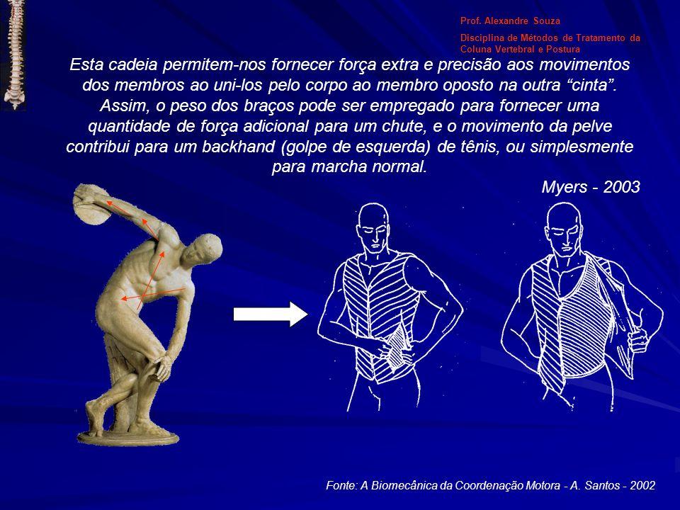 Fonte: A Biomecânica da Coordenação Motora - A. Santos - 2002