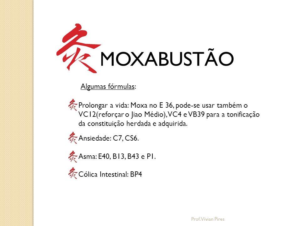MOXABUSTÃO Algumas fórmulas: