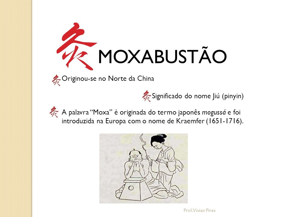 MOXABUSTÃO Originou-se no Norte da China