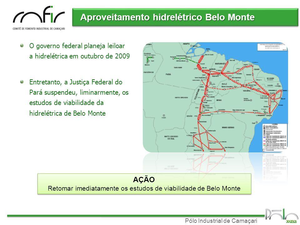 Retomar imediatamente os estudos de viabilidade de Belo Monte