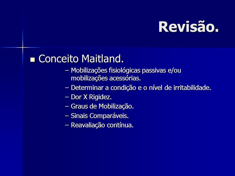 Revisão. Conceito Maitland.