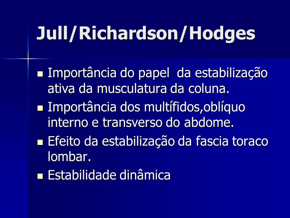 Jull/Richardson/Hodges
