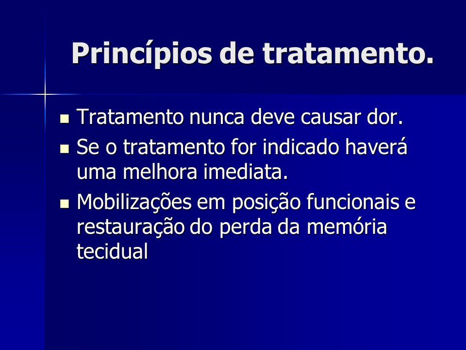 Princípios de tratamento.