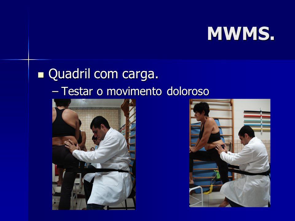 MWMS. Quadril com carga. Testar o movimento doloroso