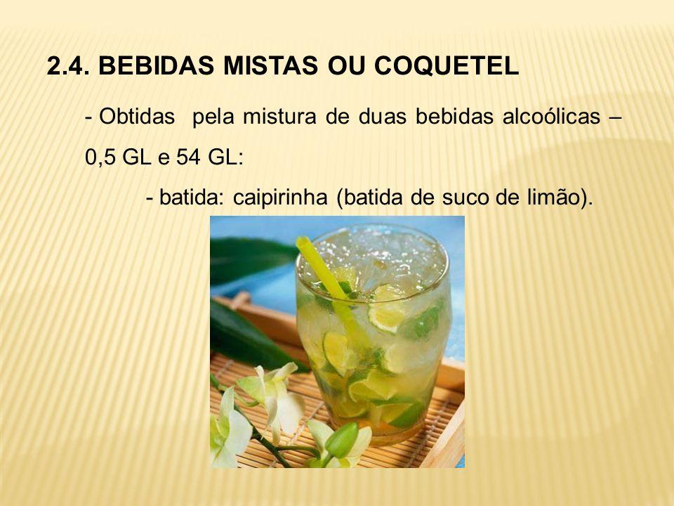 2.4. BEBIDAS MISTAS OU COQUETEL