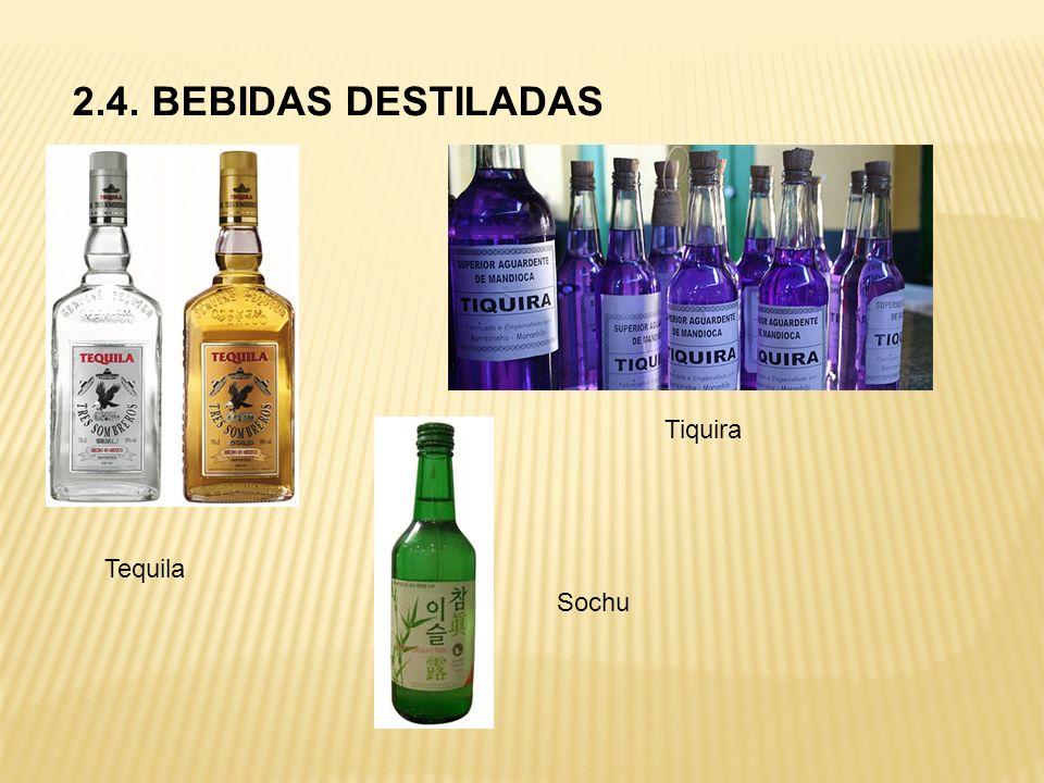 2.4. BEBIDAS DESTILADAS Tiquira Tequila Sochu