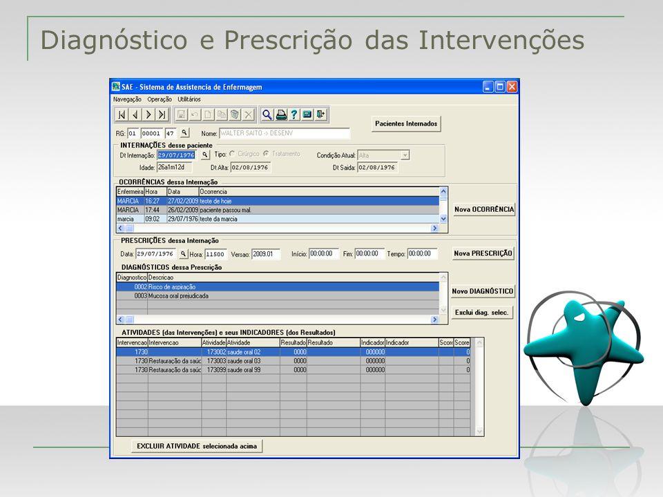 Diagnóstico e Prescrição das Intervenções