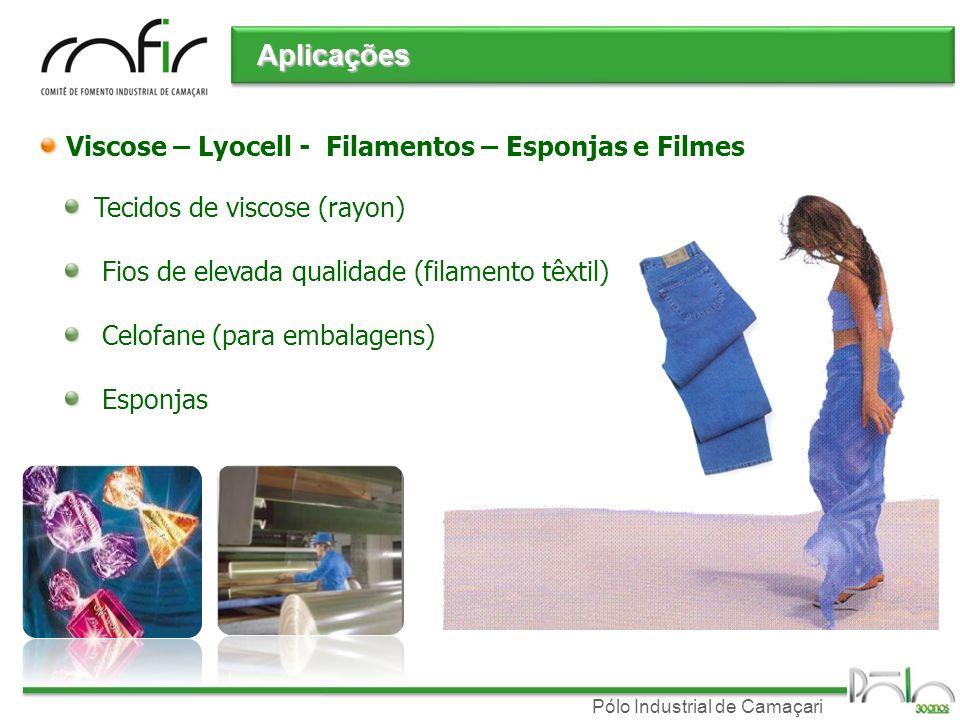 Aplicações Viscose – Lyocell - Filamentos – Esponjas e Filmes