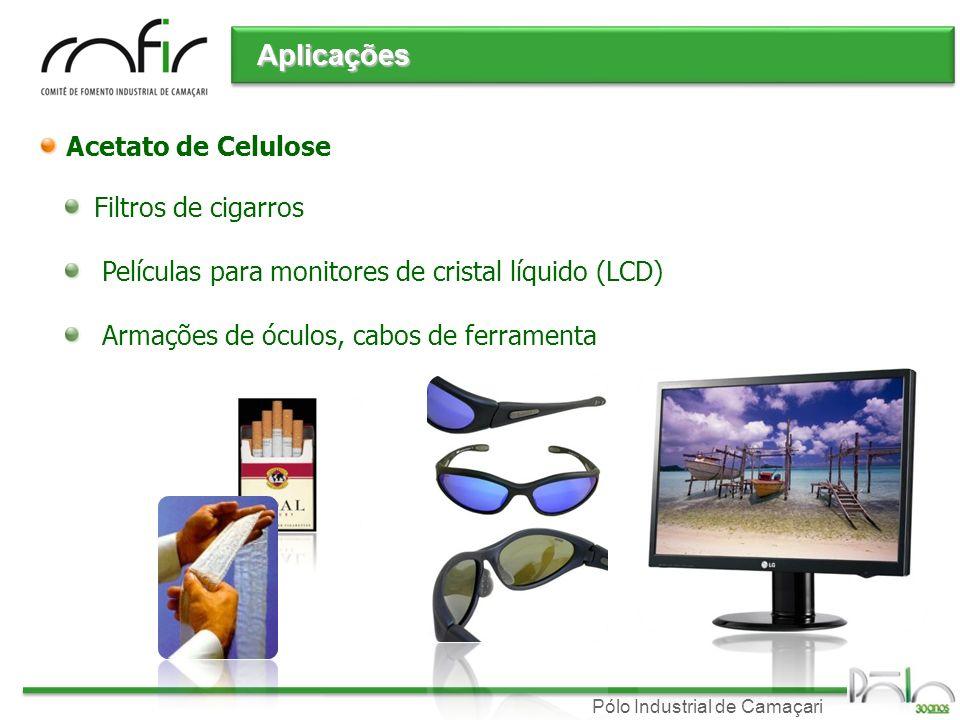 Aplicações Acetato de Celulose Filtros de cigarros