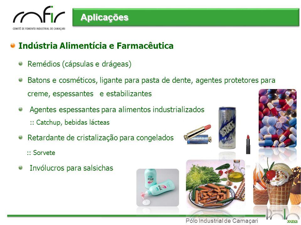 Aplicações Indústria Alimentícia e Farmacêutica