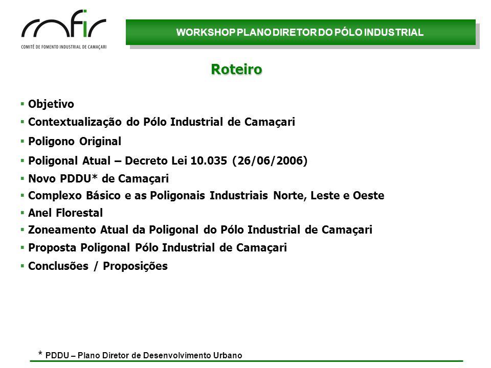 Roteiro Objetivo Contextualização do Pólo Industrial de Camaçari