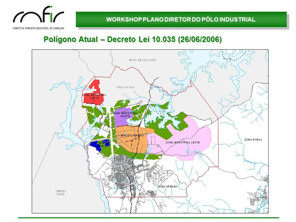 Polígono Atual – Decreto Lei 10.035 (26/06/2006)