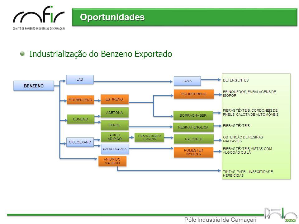 Oportunidades Industrialização do Benzeno Exportado