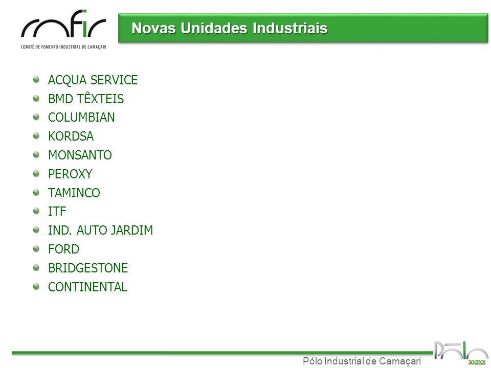 Novas Unidades Industriais