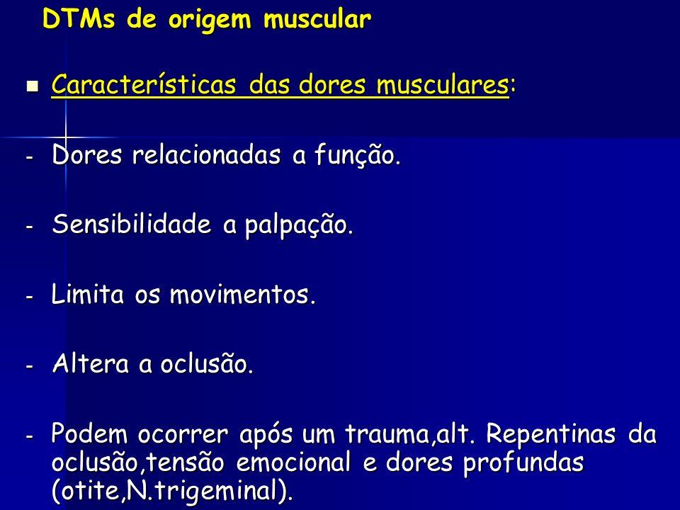 DTMs de origem muscular
