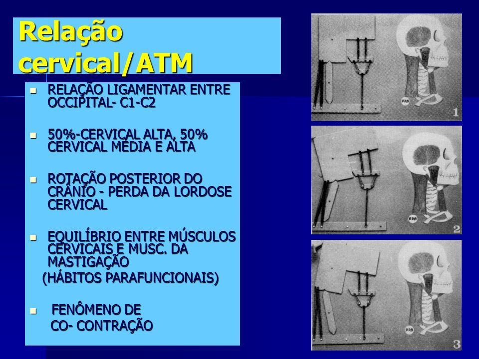 Relação cervical/ATM RELAÇÃO LIGAMENTAR ENTRE OCCIPITAL- C1-C2