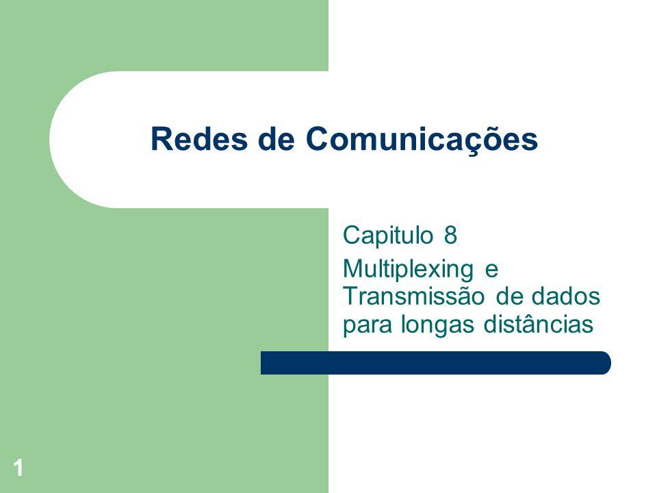Capitulo 8 Multiplexing e Transmissão de dados para longas distâncias