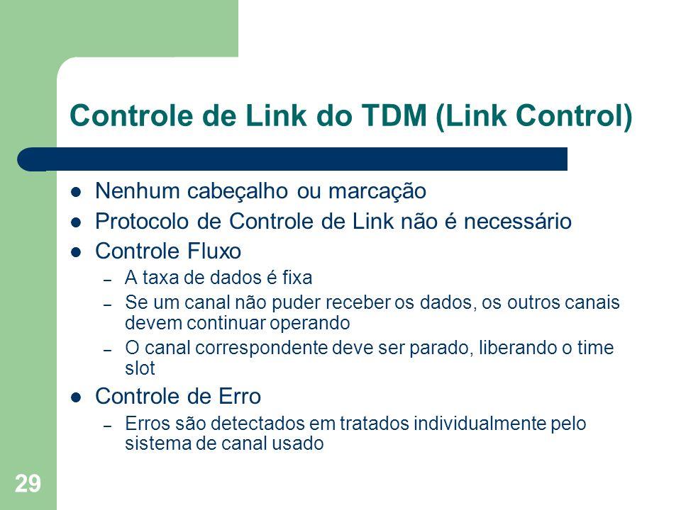 Controle de Link do TDM (Link Control)